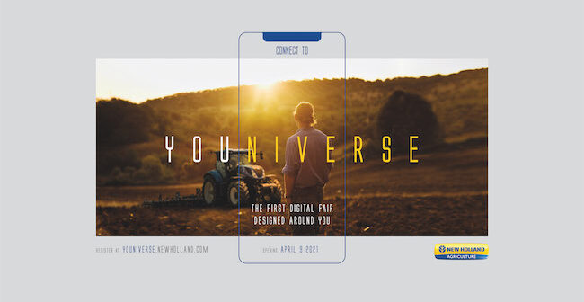 New Holland invites farmers to an immersive experience at YOUNIVERSE digital agricultural fair